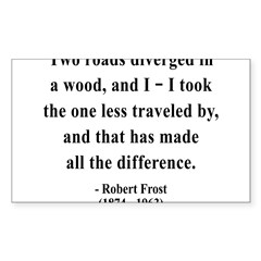 Robert Frost 1 Rectangle Sticker (Rectangle 50 pk)