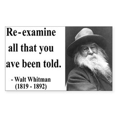 Walter Whitman 11 Rectangle Sticker (Rectangle 50 pk)