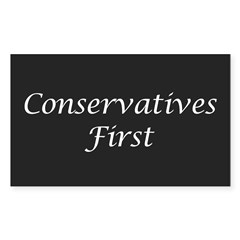 Conservatives First Oval Sticker (Rectangle 50 pk)