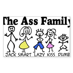 The Ass Family Sticker (Rectangle 50 pk)