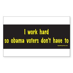 I Work Hard Sticker (Rectangle 50 pk)