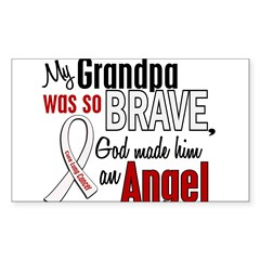 Angel 1 GRANDPA Lung Cancer Rectangle Sticker (Rectangle 50 pk)