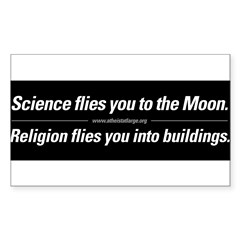 Science vs. Religion Sticker (Rectangle 50 pk)
