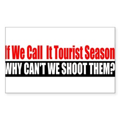 Tourist Season Sticker (Rectangle 50 pk)