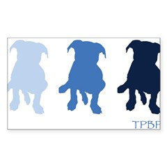 TPBP Blue Rectangle Sticker (Rectangle 50 pk)