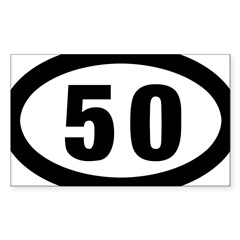50 mile Ultrarunning Sticker (Rectangle 50 pk)