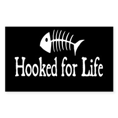 Hooked for Life Oval Sticker (Rectangle 50 pk)
