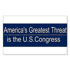 America's Greatest Threat Sticker (Rectangle 50 pk)