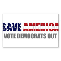 Save America Sticker (Rectangle 50 pk)