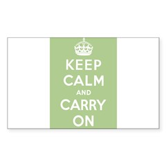 Sage Green Rectangle Sticker (Rectangle 50 pk)