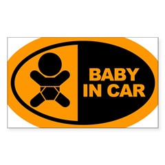 Baby in Car Safety Sticker for Car Sticker (Rectangle 50 pk)