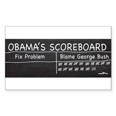 Obama Scoreboard Sticker (Rectangle 50 pk)
