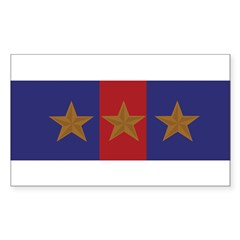 Marine Corps Recruiting 3 star (Bumper) Sticker (Rectangle 50 pk)
