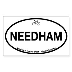 Needham Town Fore Sticker (Rectangle 50 pk)