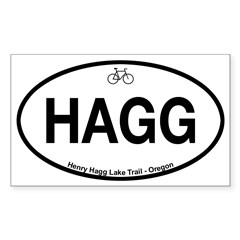 Henry Hagg Lake Trail Sticker (Rectangle 50 pk)