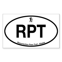 Resurrection Pass Trail Sticker (Rectangle 50 pk)