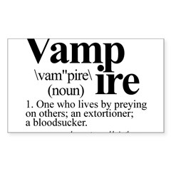 Definition of a Vampire Sticker (Rectangle 50 pk)