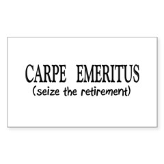 Retired II Sticker (Rectangle 50 pk)