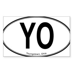 "Youngstown ""YO"" Sticker (Rectangle 50 pk)"