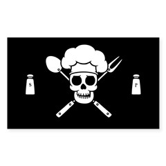 Chef Pirate Sticker (Rectangle 50 pk)