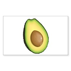 Avocado Sticker (Rectangle 50 pk)