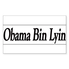 Obama Bin Lyin Sticker (Rectangle 50 pk)