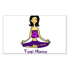 Yogi Mama Rectangle Sticker (Rectangle 50 pk)