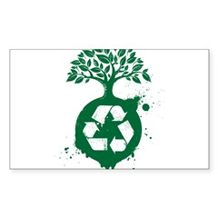 Recycle Sticker (Rectangle 50 pk)