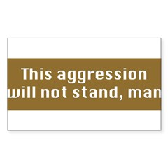 This Aggression Sticker (Rectangle 50 pk)