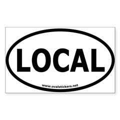 Local Oval Car Sticker (Rectangle 50 pk)