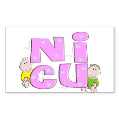 Nurse XXX Sticker (Rectangle 50 pk)