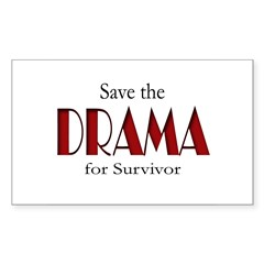 Drama on Survivor Sticker (Rectangle 50 pk)