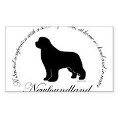Devoted Black Newf Sticker (Rectangle 50 pk)