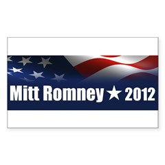 Mitt Romney 2012 Sticker (Rectangle 50 pk)