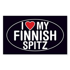 I Love My Finnish Spitz Oval Sticker/Decal Sticker (Rectangle 50 pk)