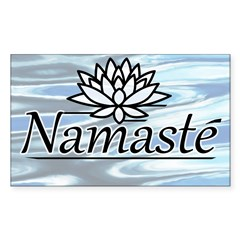 Namaste Lotus Ripple Sticker (Rectangle 50 pk)