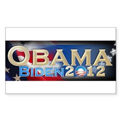 Obama Biden - Sticker (Rectangle 50 pk)