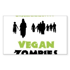 Vegan Zombie Sticker (Rectangle 50 pk)
