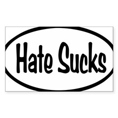 Hate Sucks Oval Sticker (Rectangle 50 pk)