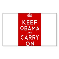 Keep Obama Sticker (Rectangle 50 pk)