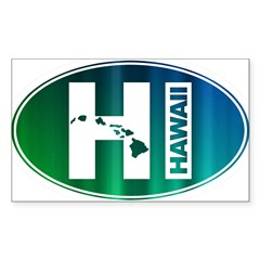 HI Hawaii - Sticker (Rectangle 50 pk)