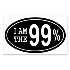 I am the 99 Percent Sticker (Rectangle 50 pk)