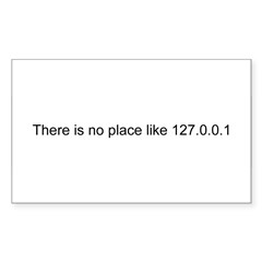 127.0.0.1 Rectangle Sticker (Rectangle 50 pk)