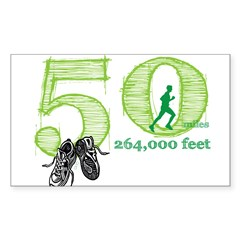 50 Mile Ultra Marathon Men Sticker (Rectangle 50 pk)