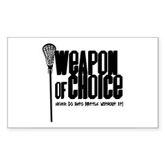 Lacrosse Rectangle Sticker (Rectangle 50 pk)