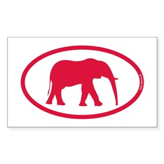 Alabama Red Elephant II Sticker (Rectangle 50 pk)