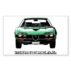 Alfa Romeo Montreal Sticker (Rectangle 50 pk)