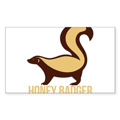 Honey Badger BadAs Sticker (Rectangle 50 pk)