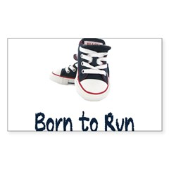 Born to Run Sticker (Rectangle 50 pk)