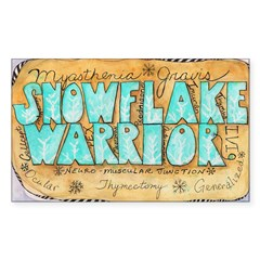 Snowflake Warrior Sticker (Rectangle 50 pk)